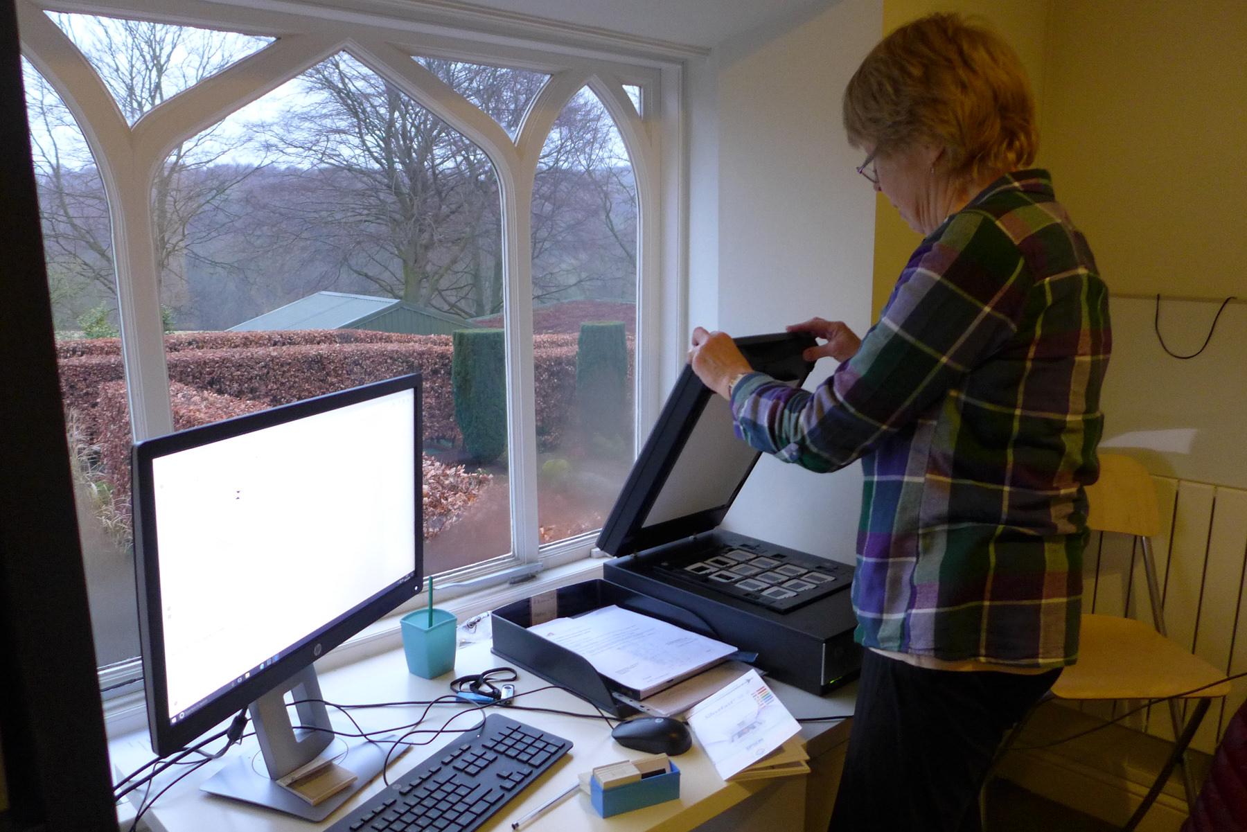 Fran scanning slides