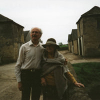 Sybil With a Man at Markenfield Hall - YGA00208
