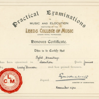 Sybil - Elocution Certificate - YGA00530