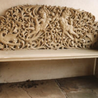 Carved Stone Bench - YGA00379