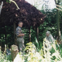 Ken Gill and Sybil by the Root House - YGA00397