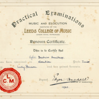 Sybil -  Elocution Certificate -YGA00529