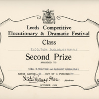 Sybil - Elocution Certificate - YGA00536